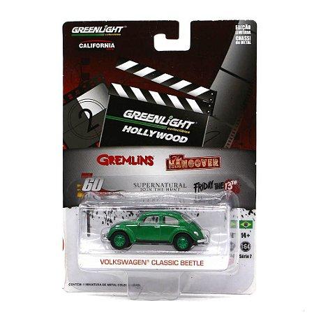 GREEN MACHINE Volkswagen Fusca Clássico Gremlins 1/64 Greenlight Série 7