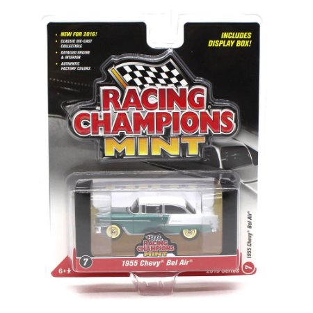 CHASE GOLD Chevrolet Bel Air 1955 1/64 Racing Champions Mint 2016 Series Versão A