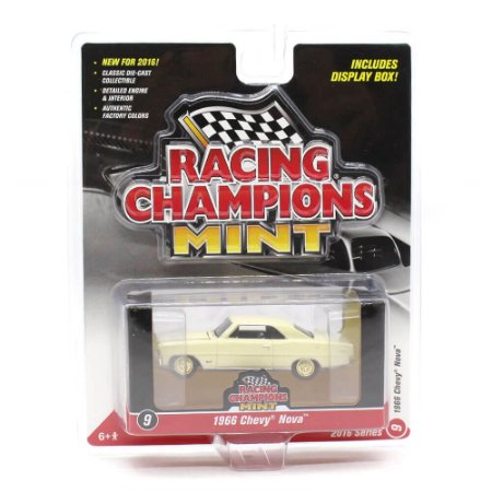 CHASE GOLD Chevrolet Nova 1966 1/64 Racing Champions Mint 2016 Series Release 1 Versão A