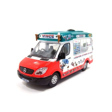 Mercedes Benz Sprinter Mondial Ice Cream Vinces 1/76 Oxford Commercials