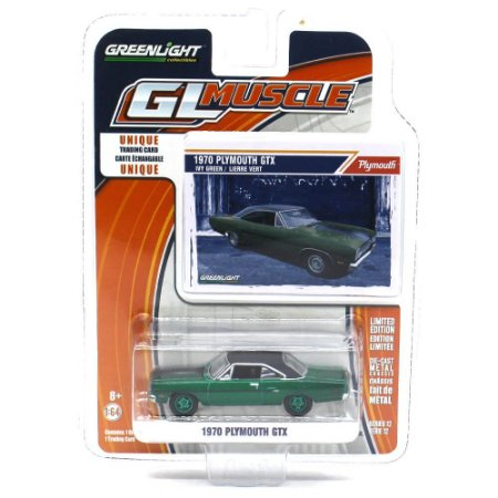 GREEN MACHINE Plymouth GTX 1970 1/64 Greenlight GL Muscle Series 12