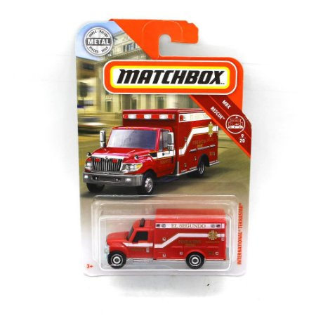 International Terrastar Bombeiros 1/64 Matchbox MBX Rescue