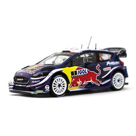 Ford Fiesta WRC Red Bull N 1 Vencedor Rally Tour de Corse 2018 Sébastien Ogier e Julien Ingrassia 1/43 Ixo