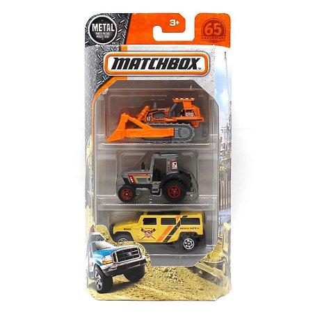 Pack 3 Ocean Works 1/64 Matchbox 2 Tratores 1 Hummer H2