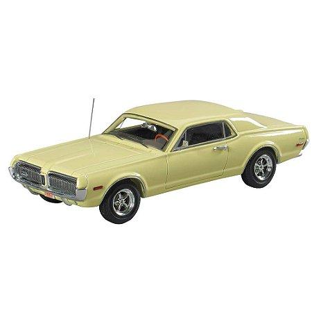 Ford Mercury Cougar Coupé 1968 Amarelo 1/43 MotorHead