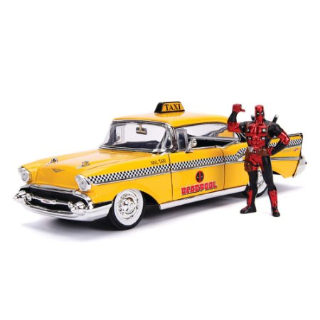 Deadpool Táxi Chevrolet Bel Air 1957 1/24 Jada Toys Metals Die Cast