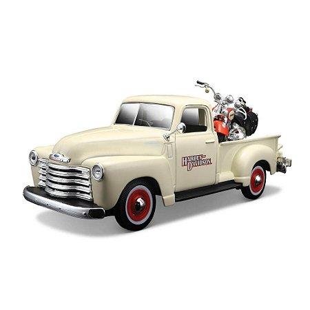 Chevrolet 3100 Pick Up 1950 1/25 Harley Davidson FLSTS Heritage Springer 2001 1/24 Maisto HD Custom