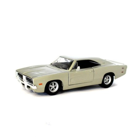 Dodge Charger R/T 1969 Prata Champagne 1/25 Maisto Special Edition