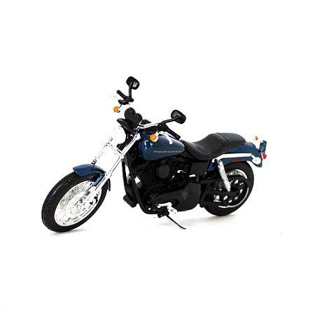 Moto Harley Davidson Dyna Super Glide Sport 2004 1/12 Maisto HD Custom