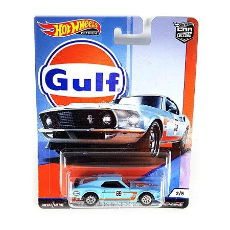 Ford Mustang Boss 302 1969 Gulf 1/64 Hot Wheels Car Culture Premium