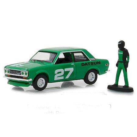 Datsun 510 1970 e Piloto The Hobby Shop Series 5 1/64 Greenlight