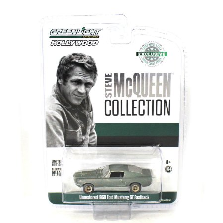Ford Mustang GT Fastback 1968 Unrestored Steve McQueen Collection 1/64 Greenlight