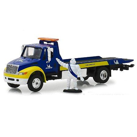 Caminhão Guincho Prancha International DuraStar Michelin HD Trucks Serie 15 1/64 Greenlight