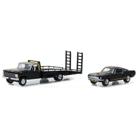 Caminhão Ford F-350 1968 e Shelby GT350H 1966 HD Trucks Serie 13 1/64 Greenlight