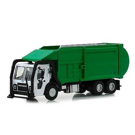 Caminhão de Lixo Mack LR Refuse 2019 SD Trucks Serie 6 1/64 Greenlight