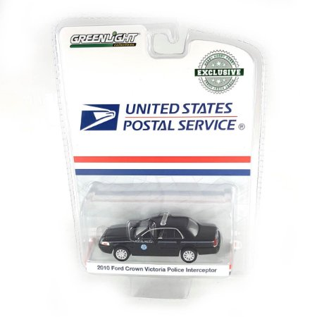 Ford Crown Victoria Policia Interceptor 2010 USPS  United States Postal Service 1/64 Greenlight