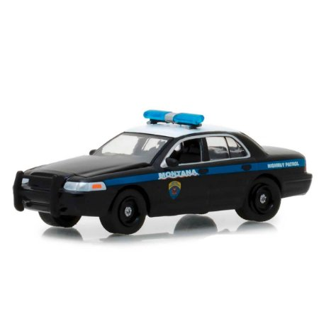 Ford Crown Victoria Policia Interceptor 2001 Hot Pursuit Serie 29 1/64 Greenlight