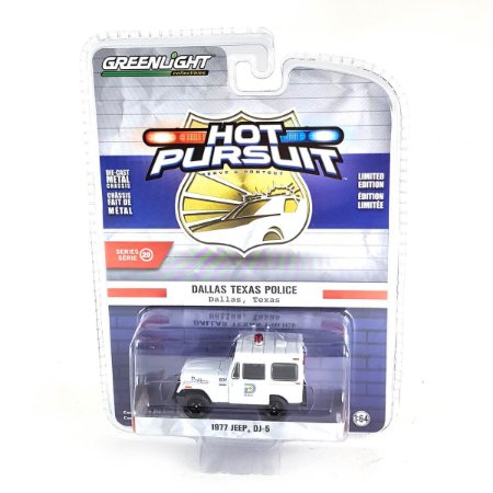 Jeep DJ5 1977 Policia Hot Pursuit Serie 29 1/64 Greenlight