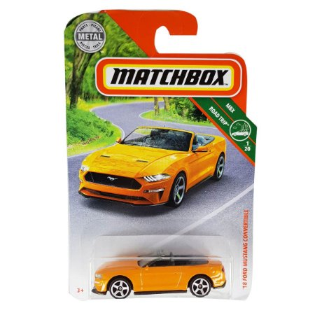 Ford Mustang Conversivel 2018 1/64 Matchbox MBX Road Trip