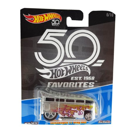 Volkswagen Kombi T1 Drag Bus 1/64 Hot Wheels 50 Anos Favorites