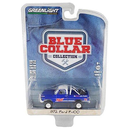 Ford F100 1972 Blue Collar Serie 4 1/64 Greenlight