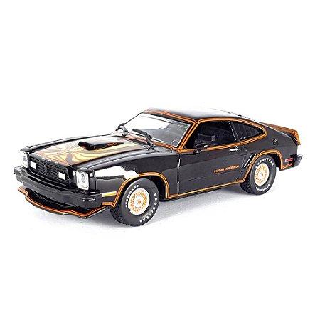 Ford Mustang II King Cobra 1978 Preto e Dourado 1/43 Greenlight