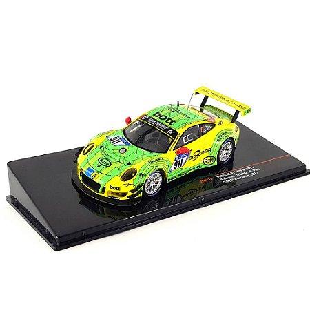 Porsche 911 991 2 GT3 R Manthey Racing N 911 24h Nurburgring 2017 Romain Dumas Patrick Pilet Richard Lietz 1/43 Ixo