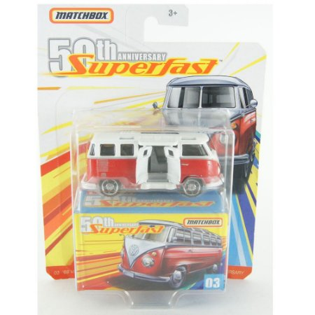 VOLKSWAGEN 23 MICROBUS 50TH ANNIVERSARY SUPERFAST '59 1/64 Matchbox