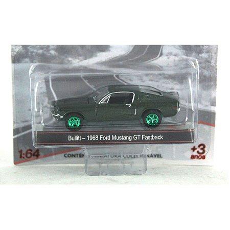 BULLIT - 1968 FORD MUSTANG GT FASTBACK 1/64 GREENLIGHT GREEN