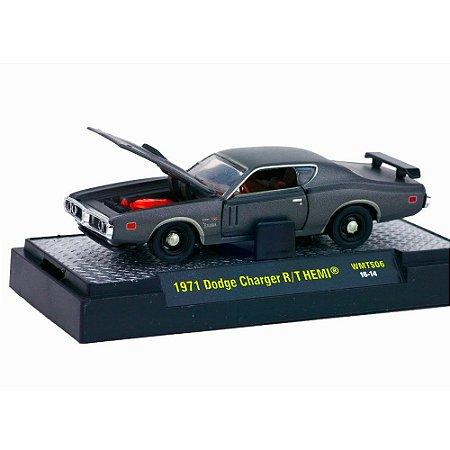 Dodge Charger R/T Hemi 1971 TITANIUM 1/64 M2 Machines