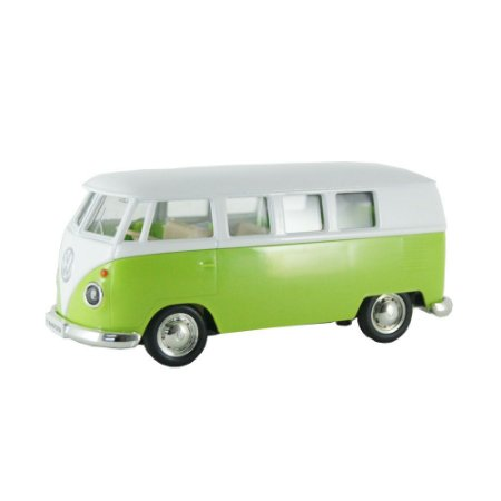 Kombi Volkswagen T1 Transporter Luz e Som 1/32 Hot Wheels