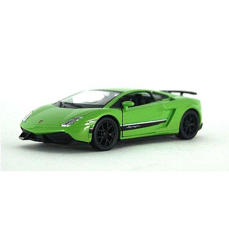 Lamborghini Gallardo LP 570-4 Superleggera Verde Luz e Som 1/32 Hot Wheels