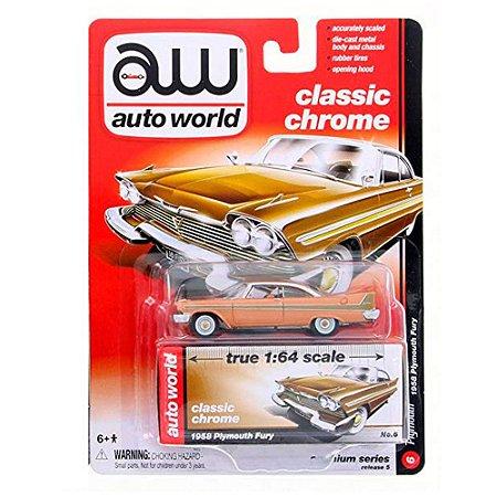 Plymouth Fury 1958 1/64 Auto World
