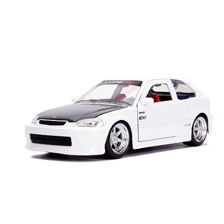 Miniatura 1997 Honda Civic EK Type R JDM Branco 1/24 Jada Toys