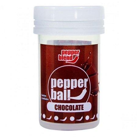 BOLINHA PEPPER BALL COM 2 UNID. CHOCOLATE