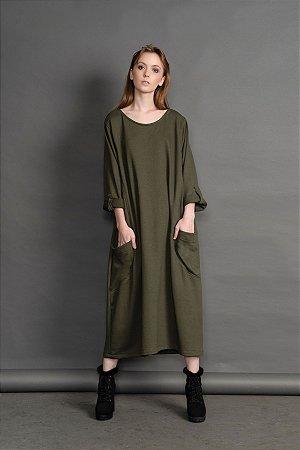 Vestido Lidia Bolsos Moletom Inv.19
