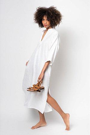 Vestido V Longo Consu Linho V.20