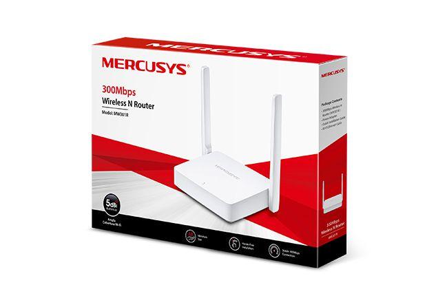 Roteador Mercusys  MW301R  300Mbps  2 Portas Lan Função WDS  2 Antenas Fixa