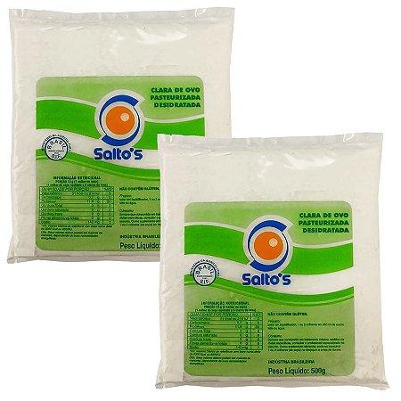 Albumina 80% Proteína 500g - Salto's Alimentos: 2 unidades