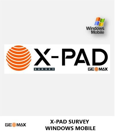 GeoMax X-PAD Survey Windows Mobile Software de Campo GNSS