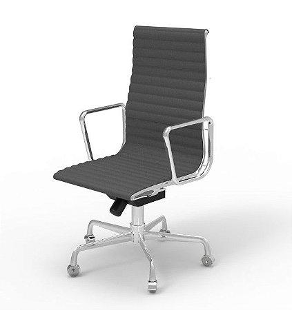 Cadeira Eames Aluminium Esteirinha Alta com Rodízio