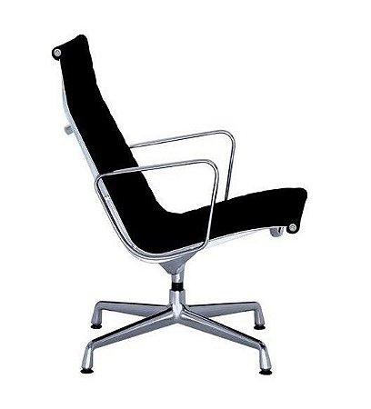 Cadeira Eames Aluminium Esteirinha Alta Fixa