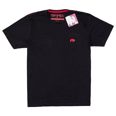 f351f8353 Camiseta Básica - Masculino - Adulto - Summer - Preta - Top Roupas ...