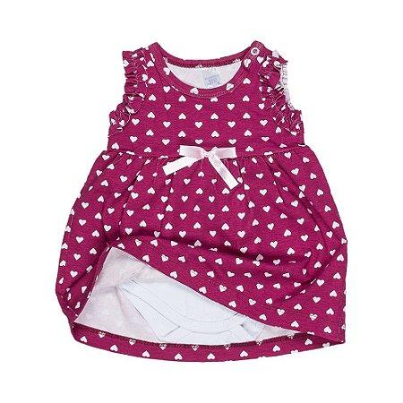 2a38a23c53 Vestido Bebê c  Body Interno - Bordô - Feminino - Top Roupas ...