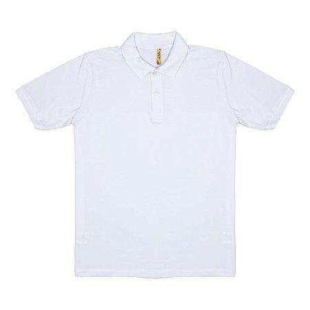 ad5f6c6b0e Camisa Polo - Piquet - Adulto - Masculino - Branca - Top Roupas ...