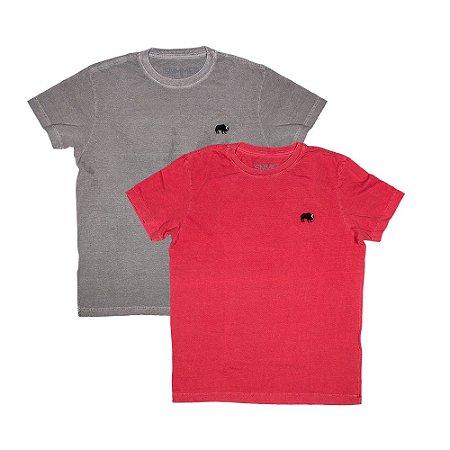 2 Camisetas Estonadas Tamanho P KIT018