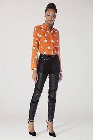 Camisa de Seda Poás Deslocado laranja - Animale