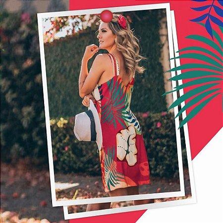 LHB Vestido Vermelho Floral