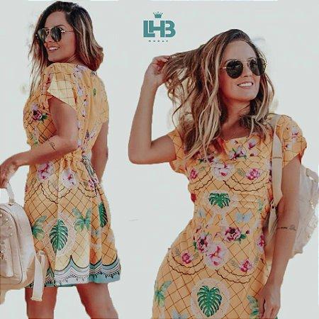 LHB Vestido Amarelo Florido