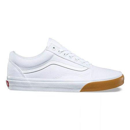 Tênis Vans Old Skool - Branco - Couro (Original) - Localtenis Skate Shop ebcca9649d3b3